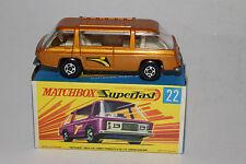 MATCHBOX SUPERFAST #22 FREEMAN INTER-CITY COMMUTER BUS, GOLD, EXCELLENT, BOXED