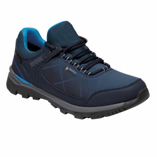 Regatta Womens Highton Stretch Waterproof Walking Shoes Dark Blue Aster