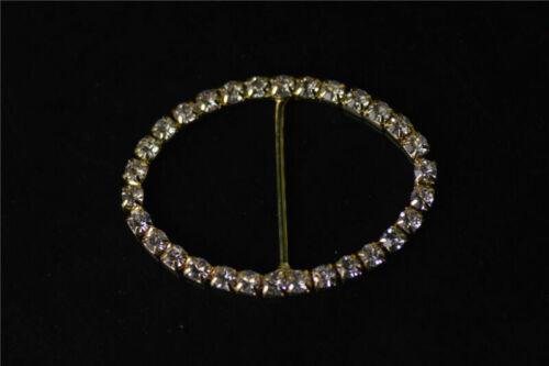 2pc 36x50mm Diamante Rhinestone Belt Bikini Buckle Ribbon Wedding Decor#Q