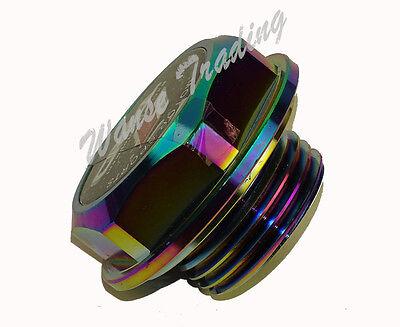TRD Engine Oil Fuel Filler Tank Cap Cover Alu Neo Chrome For TOYOTA SCION