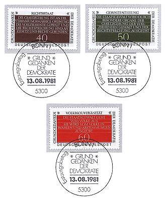 Brd 1981: Grundgedanken Der Demokratie! Nr 1105-1107 Mit Bonner Stempel! 1a! 154 Kataloge Werden Auf Anfrage Verschickt