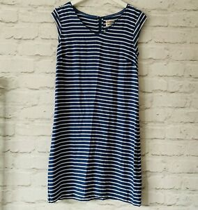 TOMMY-HILFIGER-Dress-Size-Small-BLUE-Stripes-Casual-Holiday-Sleeveless-Smart