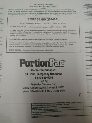 Portion Pac 201N Germicidal Cleaner Makes 1 Gallon 1 oz Packet