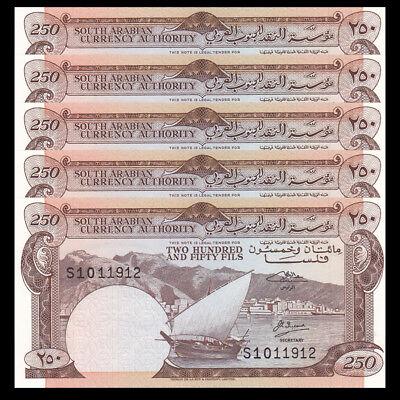 UNC Yemen 250 Fils 1965 P-1b Sign 2