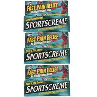 3 Pack Sportscreme Rub 3 Oz Each on sale
