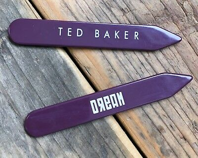 Ted Baker Genuine Replacement Branded Wooden Collar Stiffners 6cm NEW
