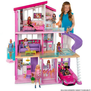 NEW-Barbie-DreamHouse-Playset-with-70-Accessory-Pieces-Girl-Toy-Gift