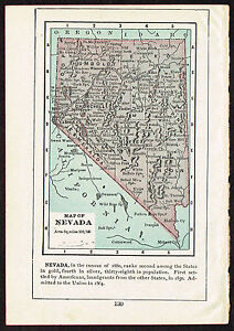 image is loading 1892 small old antique vintage paper us state