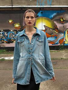 90 Giacca jeans anni Vintage 90 Zabaione blu blu Giacca True blu in Jeans 5txqPYYcwz