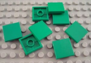 20x Genuine LEGO Part 23893 WHITE 2x2 Flat Tile with Groove /& Center Stud Piece