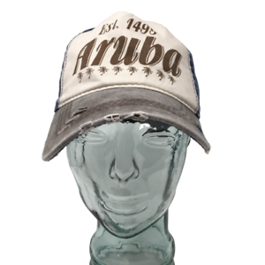 Aruba-Island-Baseball-Cap-Hat-Est-1499-Cotton-Blue-OSFM-Strap-Back