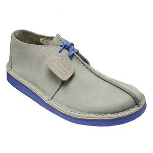 Clarks-Mens-ORIGINALES-Desierto-Trek-gris-Azul-UK-6-5-True-6F