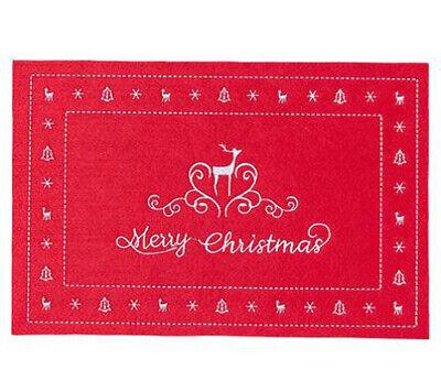 """braun NEU 6x Weihnachten  /""""Platzset//Tischset/"""" ca 30,5 x 45"""
