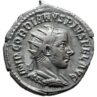 Fortvna Redvx Roman Coin Silver Antoninianus Gordian Iii 238-244 Ad Roman Imperial (235-476ad)