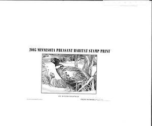 MINNESOTA #23U 2005 STATE PHEASANT STAMP PRINT by David Chapman