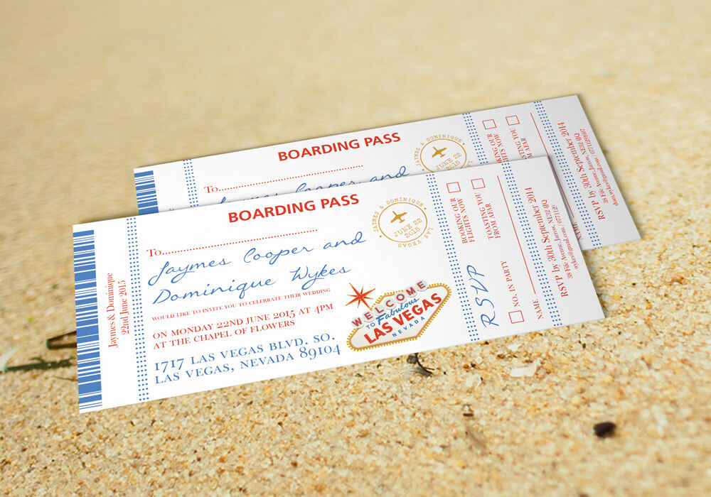 75 Personalised Destination Las Vegas Wedding Invitations Invites