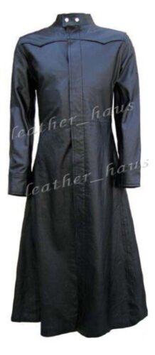 Genuine Cowhide Matrix Helsing Trenchcoat574 Gothic Leather Zwart Van Steampunk EIDH92