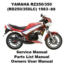 yamaha service manual yamaha rz250 ebay rh ebay co uk 1985 yamaha rz350 owners manual Yamaha RD350