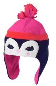 25c994b2c Details about Girls Gymboree Polar Fleece Penguin Winter Hat Size S 5-6 NWT  Fair Isle Flurry