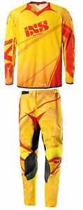 IXS-Jersey-amp-Pant-Combo-Adult-Motocross-Dirt-Bike-Gear-MX-ATV-Yellow-Orange