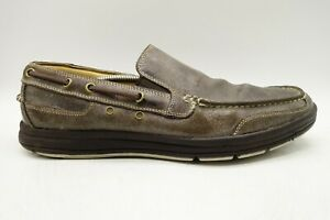 Cole-Haan-Distressed-Brown-Leather-Casual-Deck-Boat-Loafers-Shoes-Men-039-s-11-5-M