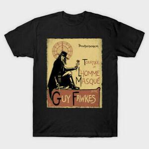 Guy Fawkes V pour Vendetta Anonyme graphique Qualité T-Shirt Tee Homme Unisexe