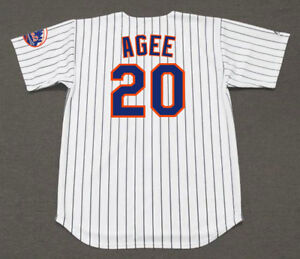 624f324bd3d TOMMIE AGEE New York Mets 1969 Majestic Throwback Home Baseball ...