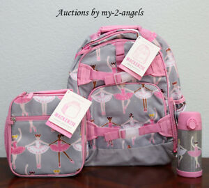 Pottery Barn Kids Glitter Ballerina Large Backpack Lunch Bag Water Bottle Dancer Ebay