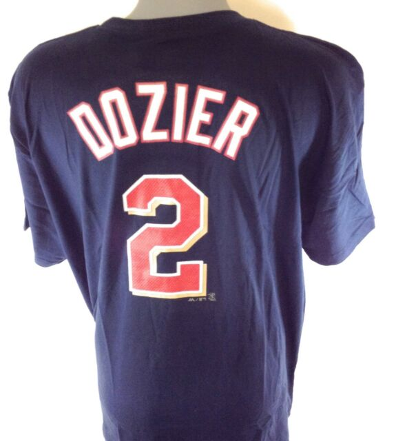 reputable site 72a8e 9883f Mens Majestic Minnesota Twins Brian Dozier #2 MLB Navy Blue Tee T-Shirt