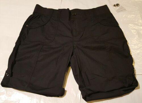 NEW Khakis /& Co Women Women/'s Poplin Convertible Short Size 14