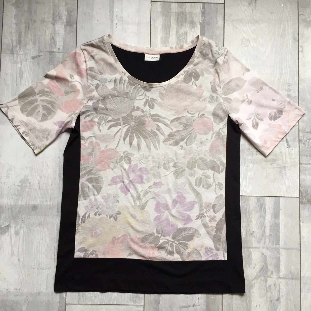 DRIES VAN NOTEN FLORAL BLOUSE T-SHIRT S