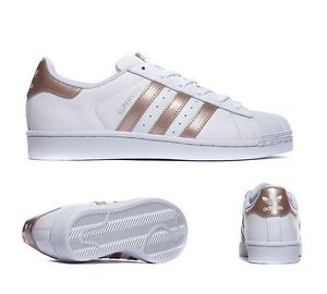 Image is loading Adidas-Superstar-Foundation-White-Bronze-Rose-Gold-Sizes-