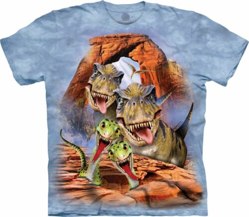 THE MOUNTAIN Dino Selfie Boys//Childs//Girls//Kids T-shirt world//dinosaur//jurassic