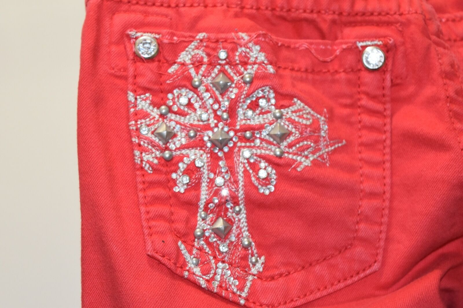 Women's Miss Me JP045510 Skinny Bright Red Jeans Size 27