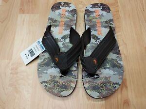 2220ea584f0 Mens Flip Flops Size 9 REEL LEGENDS Slides Sandals ARUBA CAMO ...