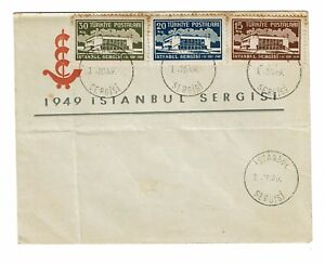 Turkey-1949-Sergisi-First-Day-Cover-Light-Toning-Folded-Z164