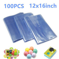 100pcs Heat Shrink Wrap Film Flat Bags 12x16 Pvc For Packaging From Usa