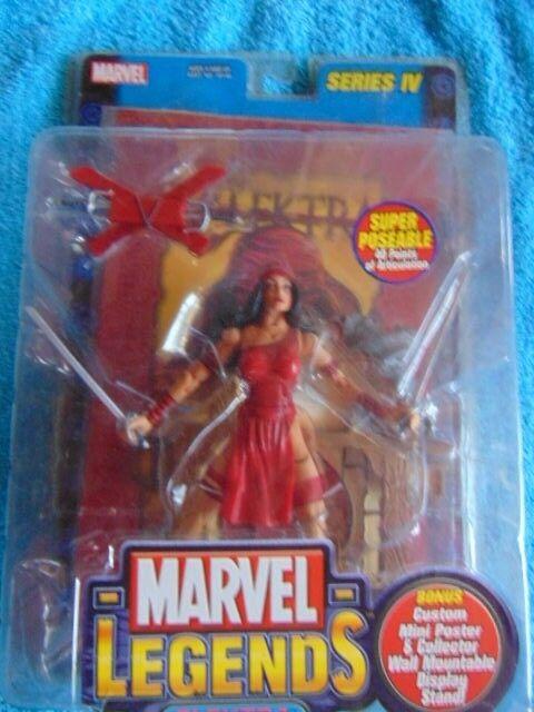 NIP Toy Biz Marvel Legends Marvel Legends ELEKTRA Super Poseable w Bonus