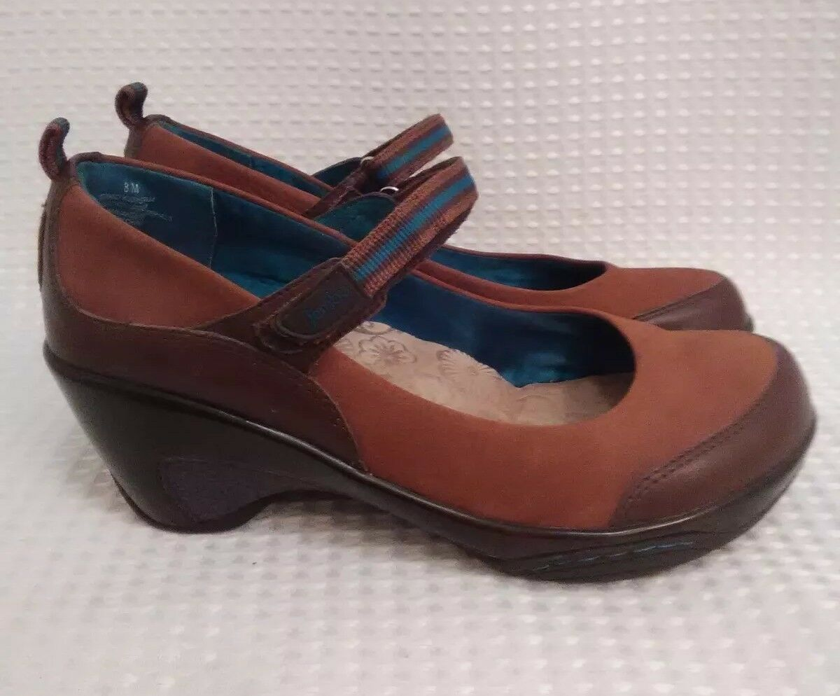 Jambu Sport Wedge Design Taille 8 M Leather Mary Jane marron chaussures