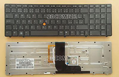 NEW For HP EliteBook 8560w 8570w Keyboard Russian backlit Pointer 690647-251