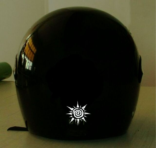 TRIBAL SUN  MOTORCYCLE HELMET REFLECTIVE DECAL.2 FOR 1 PRICE