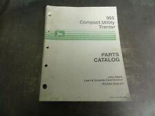John Deere 955 Compact Utility Tractor Parts Catalog Manual Pc2263