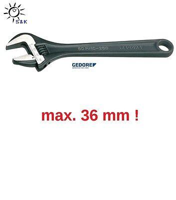 """GEDORE Einmaulschlüssel 0-36 mm verstellbar Rollgabelschlüssel 12/"""" Engländer"""