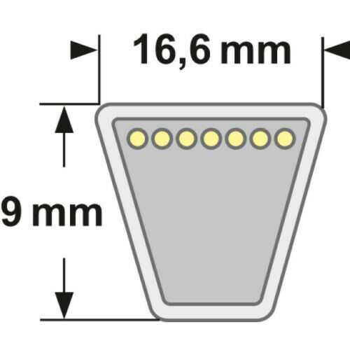 ETESIA 25115 Keilriemen für MVE-HH100//MVE-HD100//MV-100