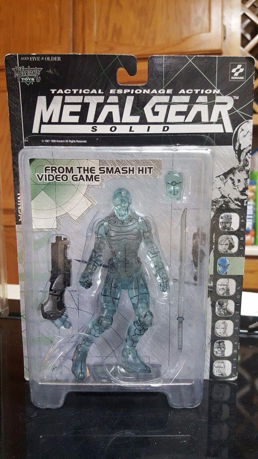 Metal Gear Solid Clear Varian Ninja actionfigur Mcfarlane leksaker 1999