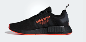 e949ab76f53c Adidas NMD R1 Black Black Solar Red Mens sizes F35881 NEW WITH BOX ...