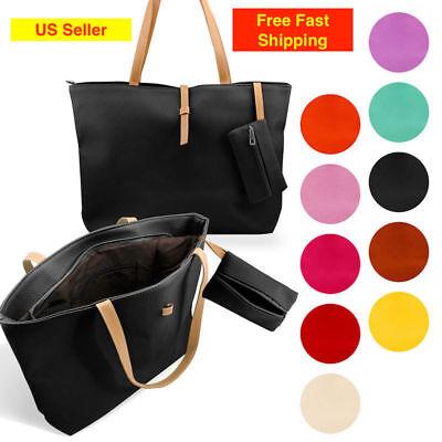 New Womens Faux Leather Fashion Messenger Handbag Lady Shoulder Bag Totes Purse