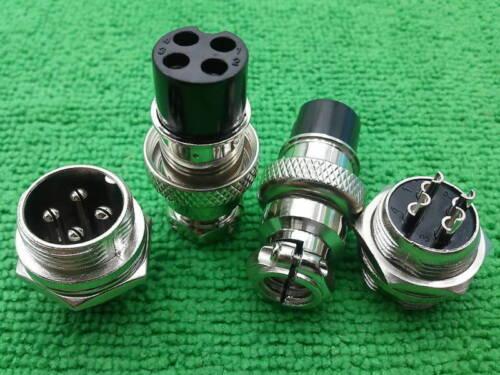 5 4-Pin XLR Audio M /& F châssis Connecteur//ordinateur de contrôle numérique bipolaire photorépéteur Motor Connecteurs