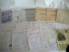 Vintage Catalogue Lockheed Brake parts Price lists Bulletins adverts etc 1950s