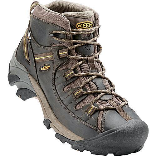 Keen Targhee II Mid Waterproof Hiking Boots (Pair) Men's Black Olive/Yellow